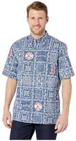 Reyn Spooner Boston Red Sox Lahaina Hawaiian Shirt (Navy) Men's Short Sleeve Button Up