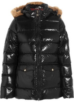 Pyrenex Authentic Faux Fur-trimmed Glossed-shell Down Jacket - Black