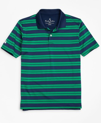 Brooks Brothers Boys Performance Series Track Stripe Polo Shirt