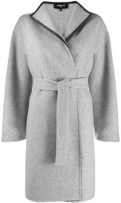 Paule Ka Two-Tone Wrap Coat