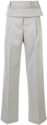 CHRISTOPHER ESBER Double Belt wide-leg trousers