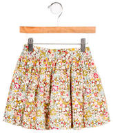 Bonpoint Girls' Floral Print Ruched Skirt