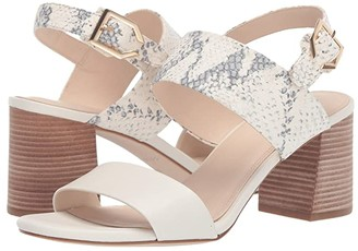 Cole Haan 65 mm G.OS Avani City Sandal (Ivory/Ivory Roccia Print Leather/Light Natural Raw Stacked) Women's Shoes