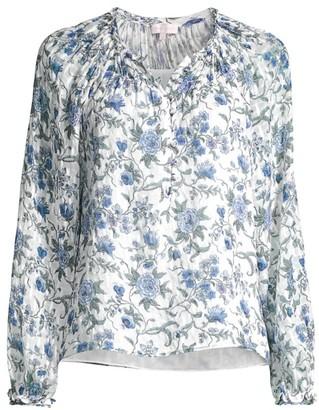 Rebecca Taylor Esmee Floral Long-Sleeve Top