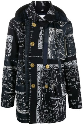 Sacai Panelled Double-Breasted Coat