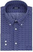 Izod Men's Regular Fit Print Buttondown Collar Dress Shirt