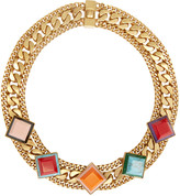 Fendi Gold Rainbow Necklace