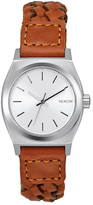Nixon Women&s Small Time Teller Leather Strap Watch