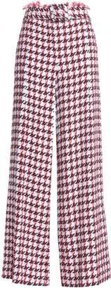 Oscar de la Renta Cotton-blend Tweed Wide-leg Pants