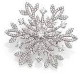 Adriana Orsini Pave Sterling Silver Snowflake Pin
