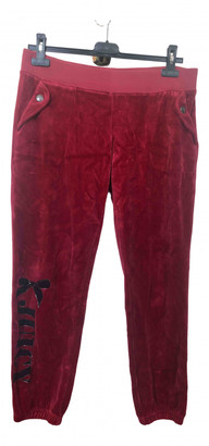 Juicy Couture Red Cotton Trousers