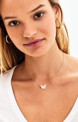 La Hearts Pearl Butterfly Necklace