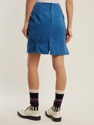 Charles Jeffrey Loverboy Twist-stitch Cotton-corduroy Mini Skirt - Blue