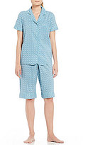 Cabernet Geometric Bermuda Pajamas