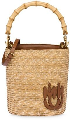 Miu Miu Straw Bucket Bag
