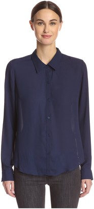Central Park West Women's Blouse with Vent Back