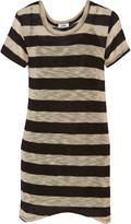 LnA Dhoney striped stretch-knit mini dress