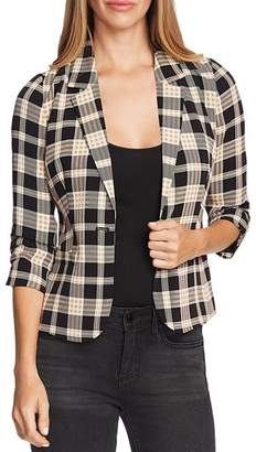 Vince Camuto Highland Plaid Cropped Blazer