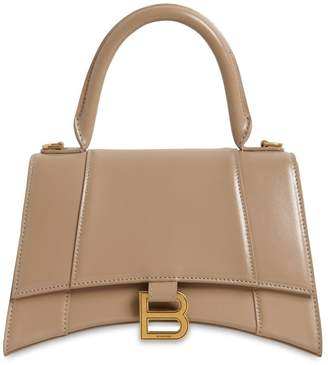 Balenciaga SM HOURGLASS LEATHER TOP HANDLE BAG