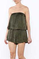Polly & Esther Strapless Layered Romper
