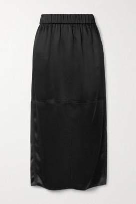 GAUCHERE Riry Satin Midi Skirt - Black