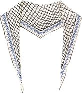 Haider Ackermann mesh print scarf