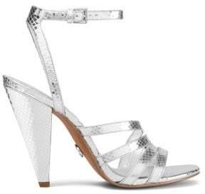 MICHAEL Michael Kors Kimmy Metallic Leather Sandals