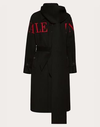 Valentino Uomo Intarsia Coat Man Black/ Red Virgin Wool 90%, Cashmere 10% 52