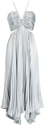 Aiifos Evie Pleated Cut-Out Dress