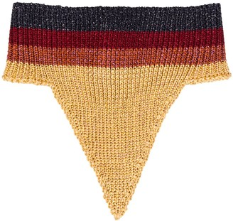 Marco De Vincenzo Buttoned Knitted Scarf