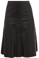 Stand Studio Britney Side-slit Leather Skirt - Womens - Black
