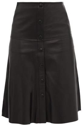 Stand Studio Britney Side-slit Leather Skirt - Black