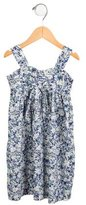 Lili Gaufrette Girls' Floral Decollete Neck Dress