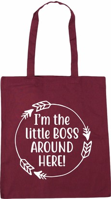 Hippowarehouse I'm The Little Boss Around Here! Tote Shopping Gym Beach Bag 42cm x38cm 10 litres