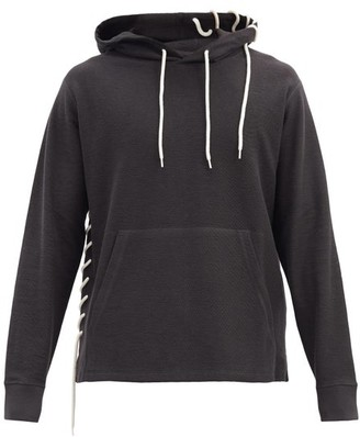 Craig Green Laced Cotton-blend Hooded Sweatshirt - Black