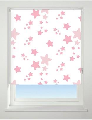 Twinkle Twinkle Blackout Roller Blind - Pink