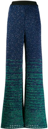 M Missoni Sequinned Knitted Trousers