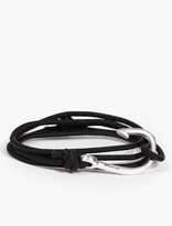 Miansai Black Cord And Silver-plated Hook Bracelet