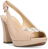 Naturalizer Allegra Slingback Peep-Toe Pumps Women's Shoes