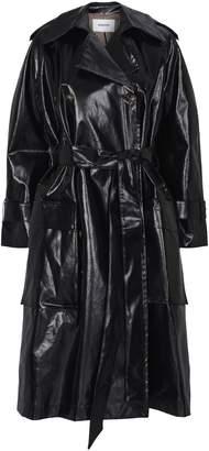Nanushka Ambar Faux Patent Leather Trench Coat