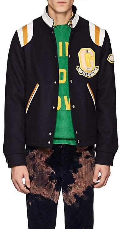 Gucci Men's Appliquéd Wool Bomber Jacket