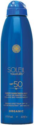 Soleil Toujours Organic Sheer Sunscreen Mist SPF 50 in | FWRD
