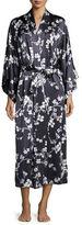 Natori Silk Cherry Blossom Long Robe