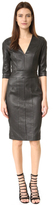 Narciso Rodriguez 3/4 Sleeve Leather Dress