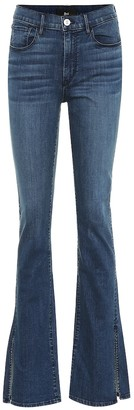 3x1 W3 Split Seam Bell high-rise jeans