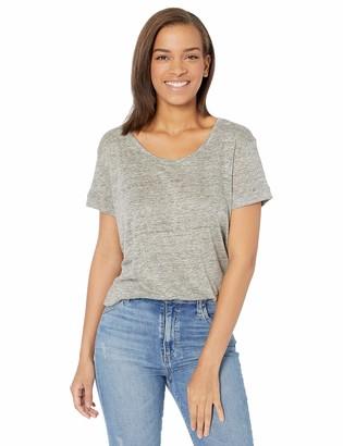 Majestic Filatures Women's Linen Short Sleeve Scoopneck with Back Pleat