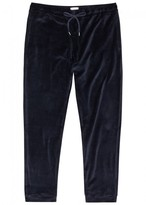 Derek Rose Nico Dark Blue Velour Lounge Trousers
