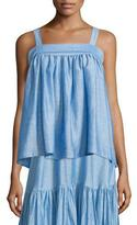 Co Sleeveless A-Line Top, Light Blue