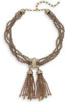 Heidi Daus Pedigree Swarovski Crystal Pavé & Multi-Row Beaded Tassel Necklace
