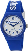Superdry 'Urban' Quartz Plastic and Silicone Dress Watch, Color:Blue (Model: SYG164U)